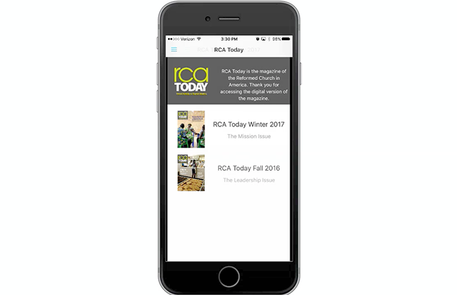 RCA Today available as an app from App Store and Google Play