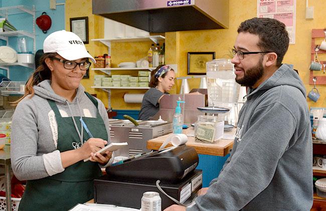 Interns Work at Neighborhood Café