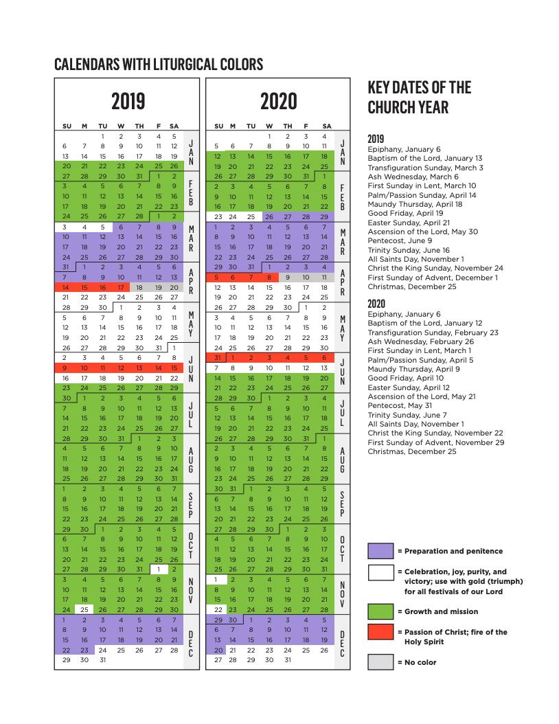 2022 Lectionary Calendar.Rca Liturgical Calendar Reformed Church In America